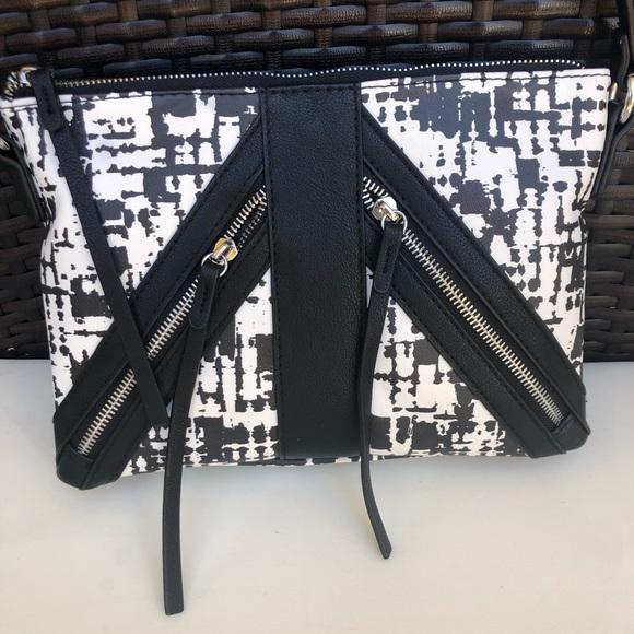 Handbags - Black & white crossbody bag, NWOT